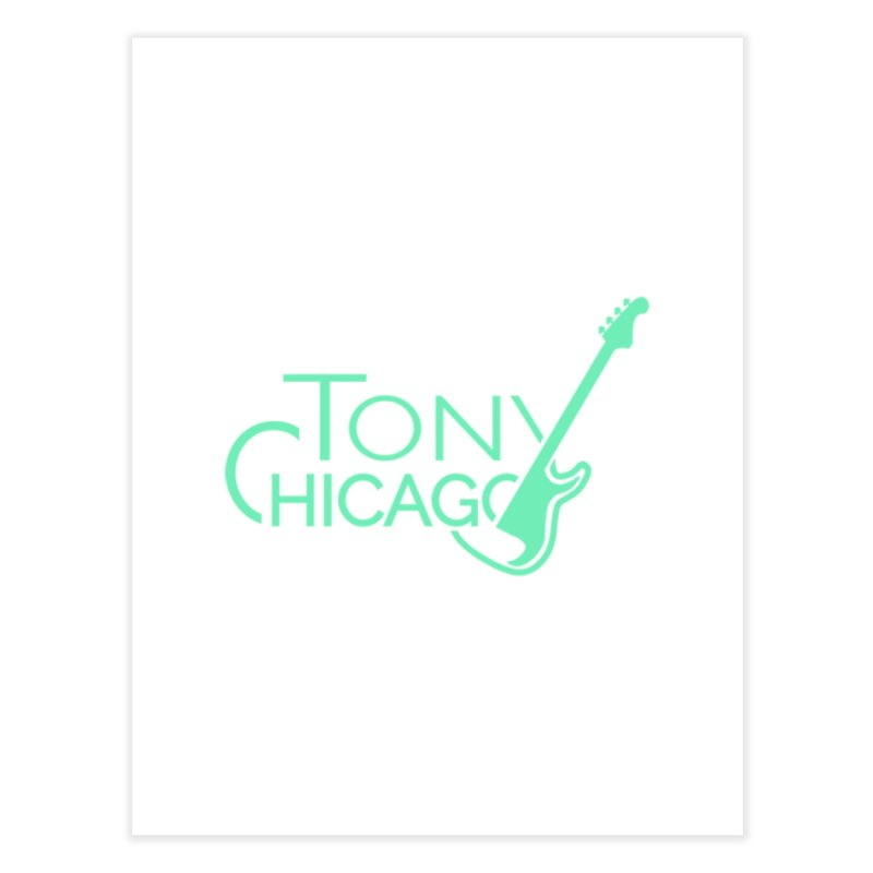 Tony Chicago Russell Sea Foam Green Home Fine Art Print by Chicago Music's Apparel and Retail Shop