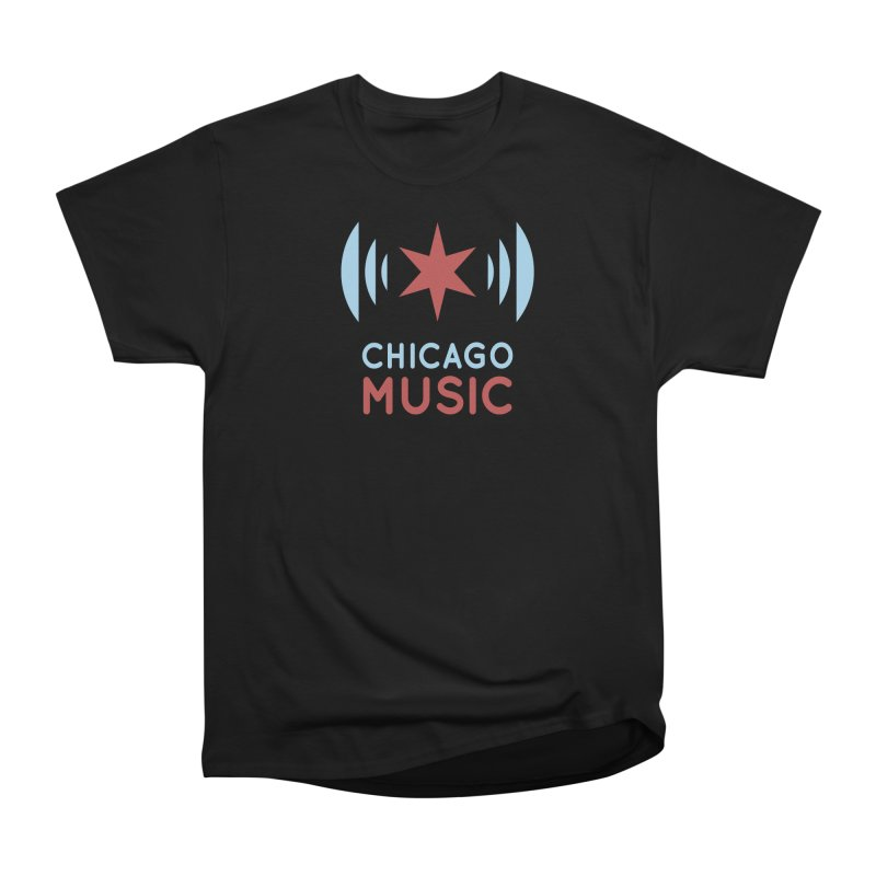 Chicago Music in Men's Classic T-Shirt Black by Chicago Music's Artist Shop