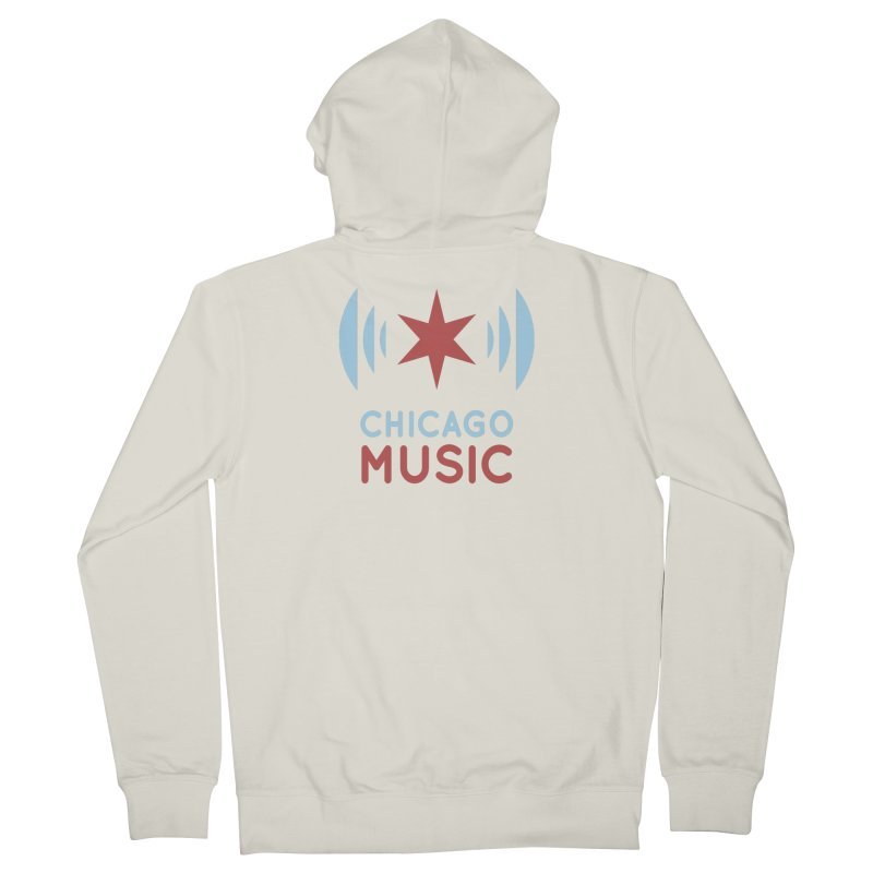 Chicago Music Women's Zip-Up Hoody by Chicago Music's Apparel and Retail Shop