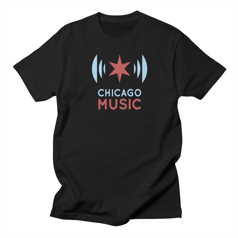 Chicago Music Men's T-Shirt by Chicago Music's Apparel and Retail Shop