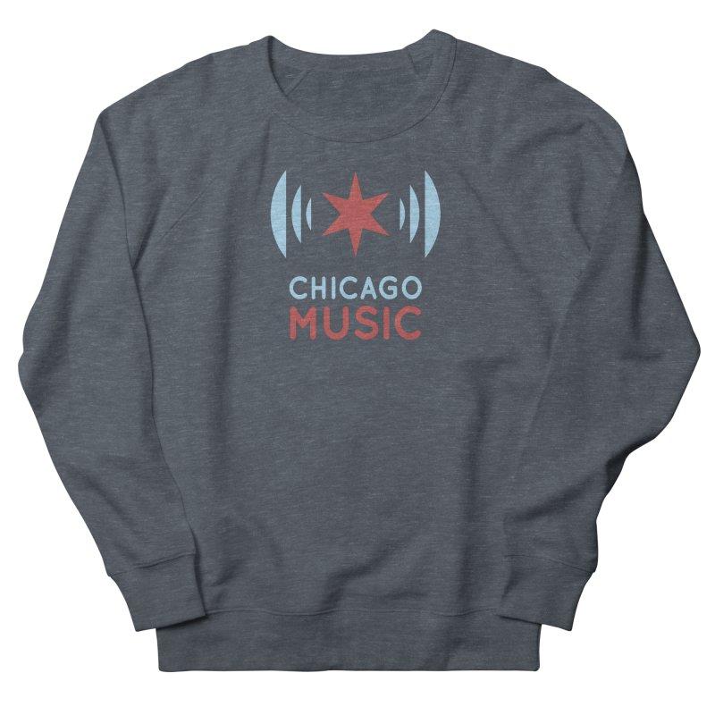 Chicago Music in Men's Sweatshirt Heather Navy Denim by Chicago Music's Apparel and Retail Shop