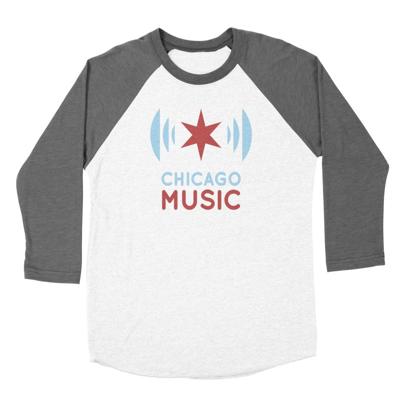 Chicago Music Women's Baseball Triblend T-Shirt by Chicago Music's Artist Shop