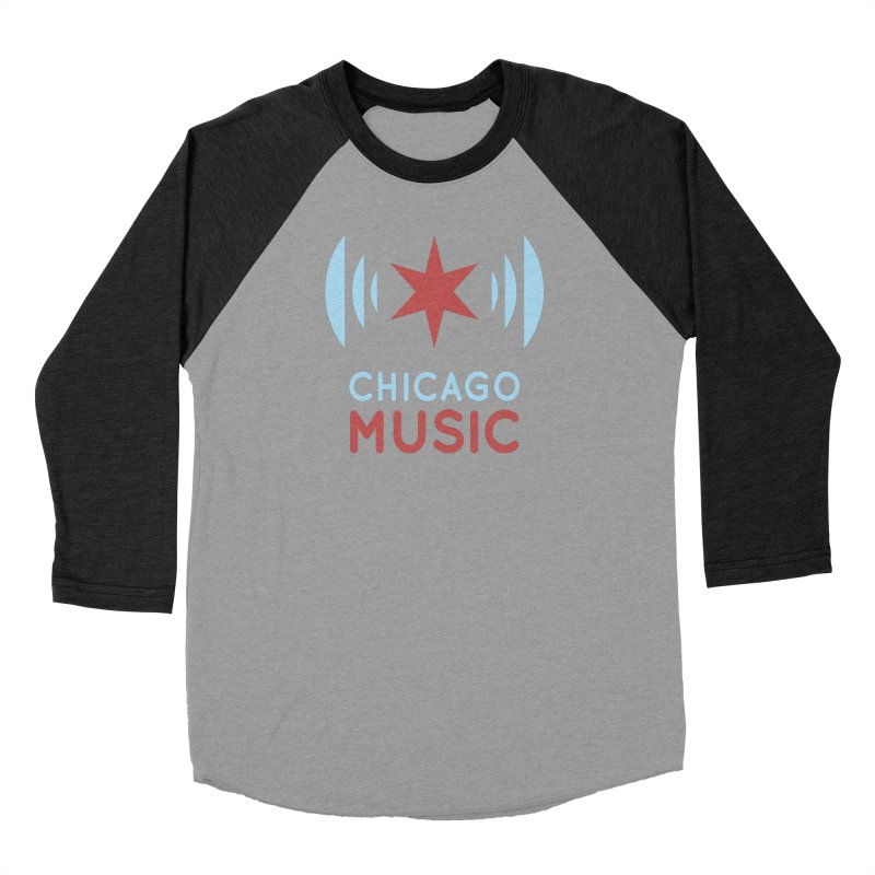 Chicago Music Women's Baseball Triblend T-Shirt by Chicago Music's Apparel and Retail Shop