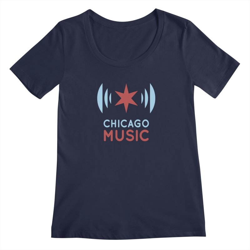 Chicago Music Women's Scoopneck by Chicago Music's Artist Shop