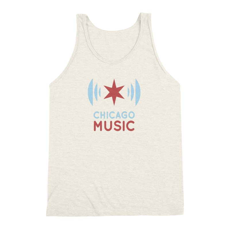 Chicago Music Men's Triblend Tank by Chicago Music's Apparel and Retail Shop