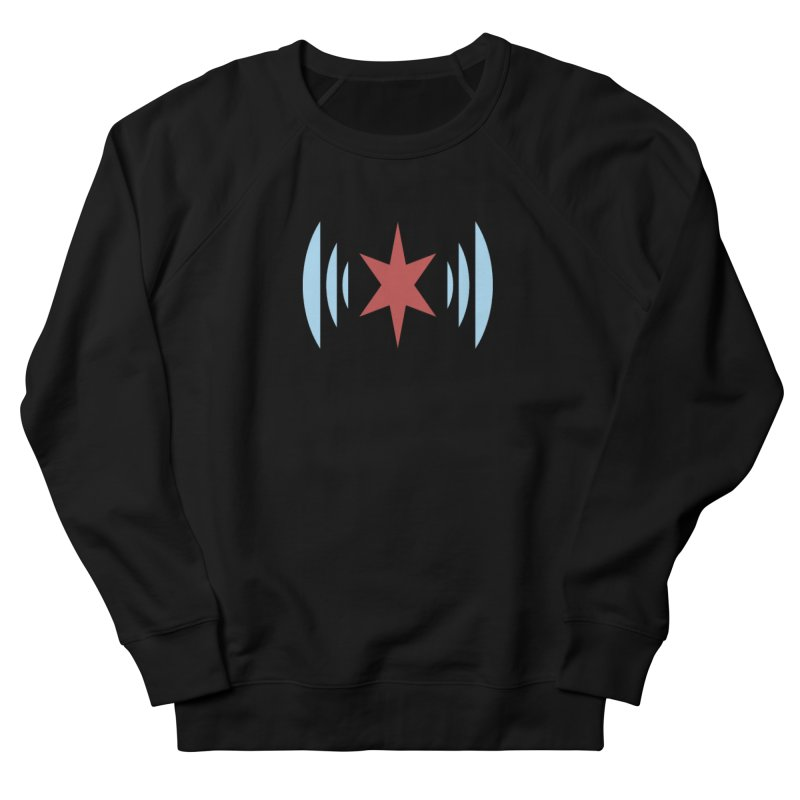 Chicago Music in Men's French Terry Sweatshirt Black by Chicago Music's Apparel and Retail Shop