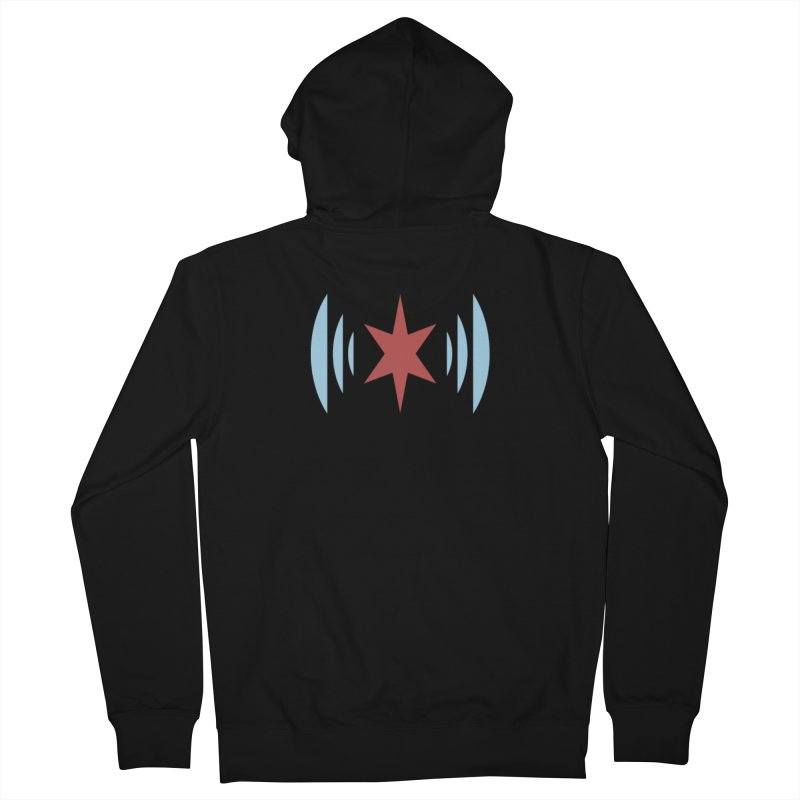 Chicago Music Men's Zip-Up Hoody by Chicago Music's Apparel and Retail Shop