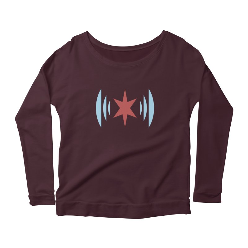 Chicago Music Women's Scoop Neck Longsleeve T-Shirt by Chicago Music's Apparel and Retail Shop