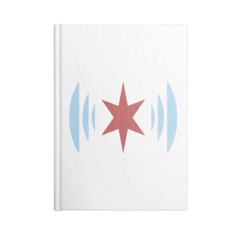 Chicago Music Accessories Lined Journal Notebook by Chicago Music's Apparel and Retail Shop
