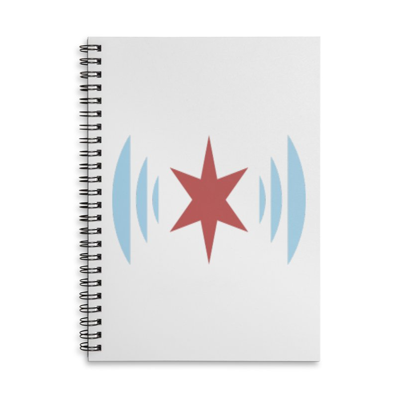 Chicago Music Accessories Lined Spiral Notebook by Chicago Music's Apparel and Retail Shop