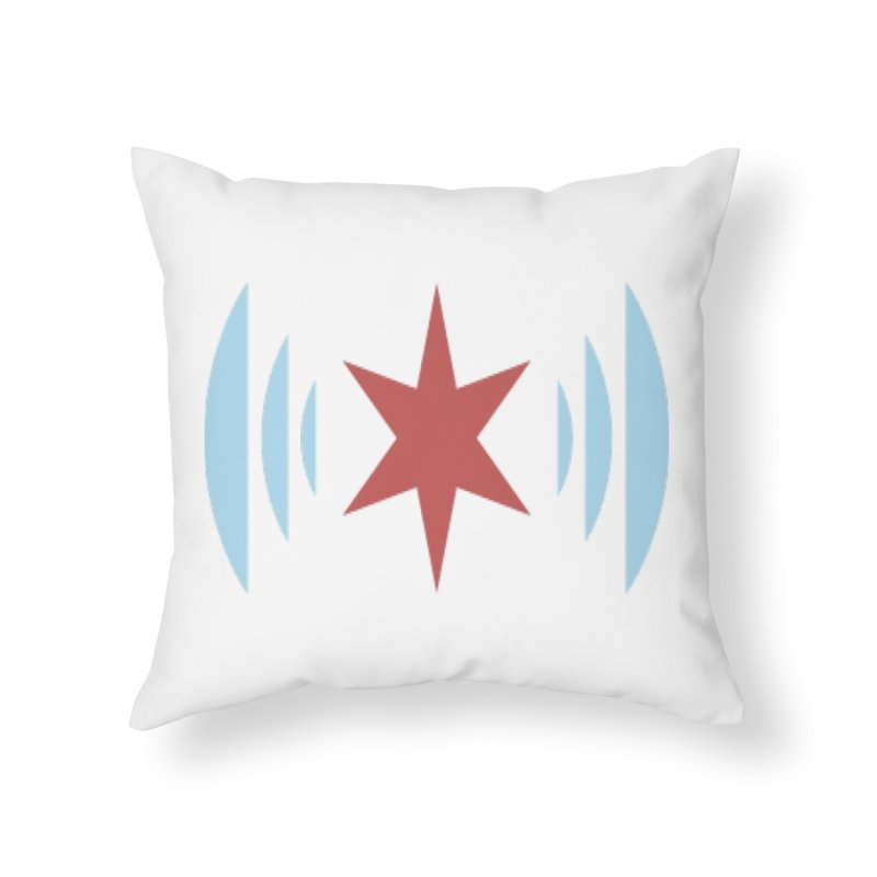Chicago Music Home Throw Pillow by Chicago Music's Apparel and Retail Shop