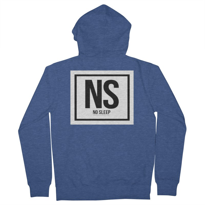 No Sleep Men's French Terry Zip-Up Hoody by Chicago Music's Apparel and Retail Shop
