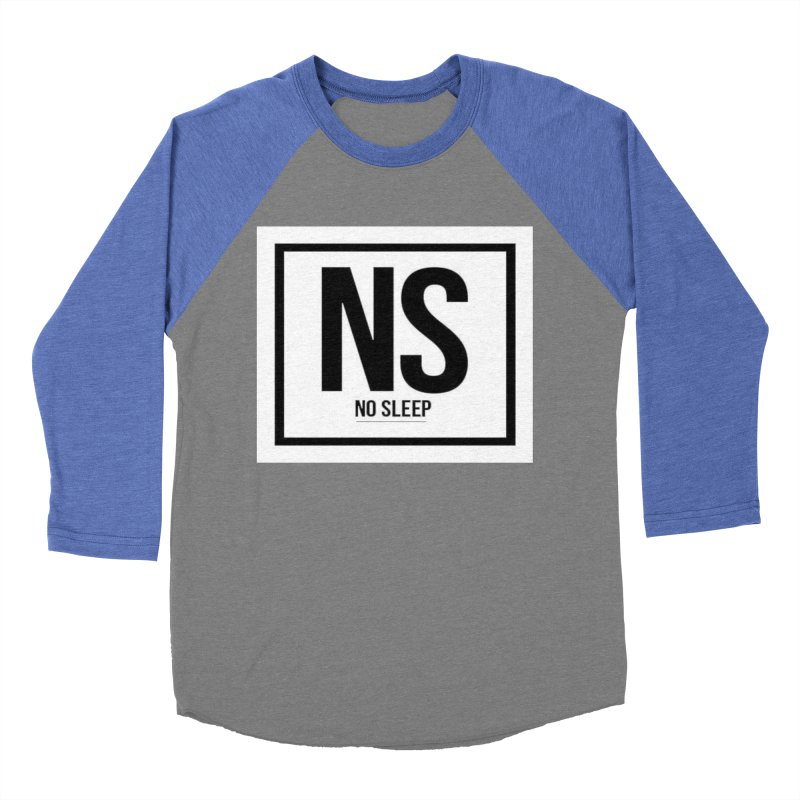 No Sleep Men's Baseball Triblend T-Shirt by Chicago Music's Apparel and Retail Shop