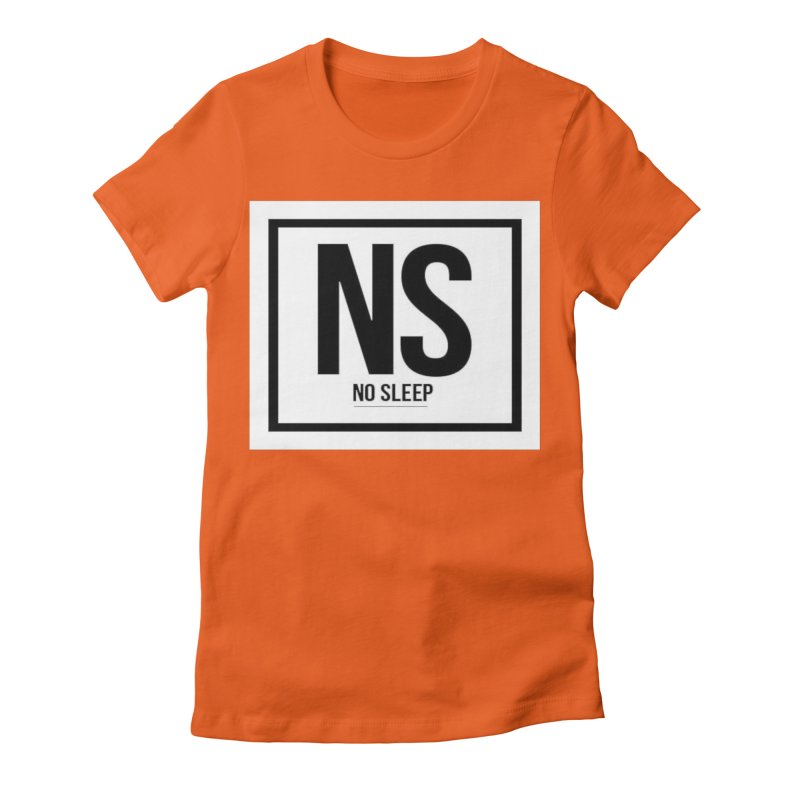No Sleep Women's Fitted T-Shirt by Chicago Music's Artist Shop