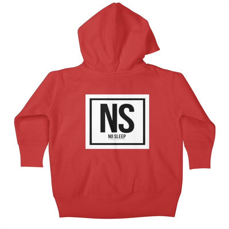No Sleep Kids Baby Zip-Up Hoody by Chicago Music's Apparel and Retail Shop