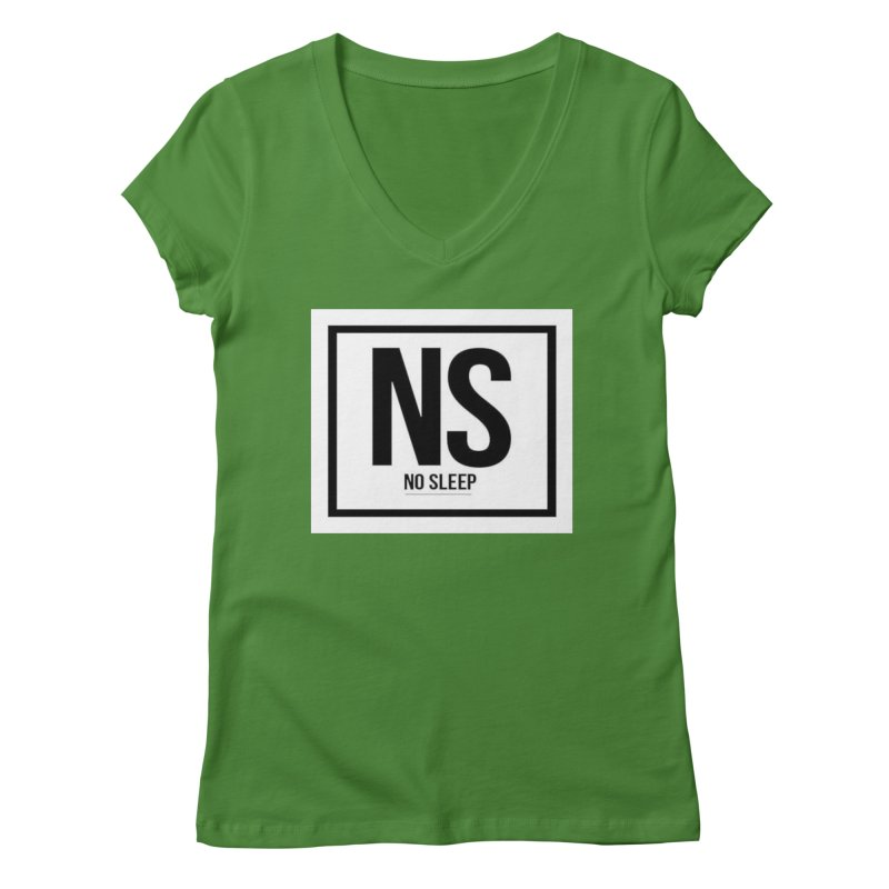 No Sleep Women's V-Neck by Chicago Music's Apparel and Retail Shop