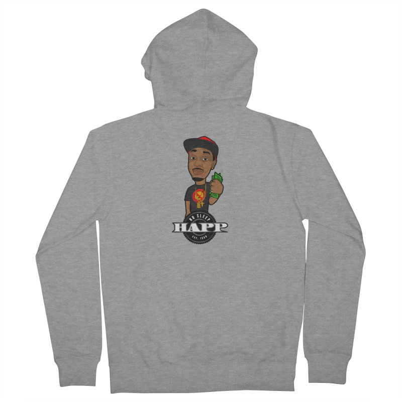 No Sleep Happ Women's Zip-Up Hoody by Chicago Music's Apparel and Retail Shop