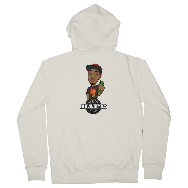 No Sleep Happ Women's French Terry Zip-Up Hoody by Chicago Music's Apparel and Retail Shop