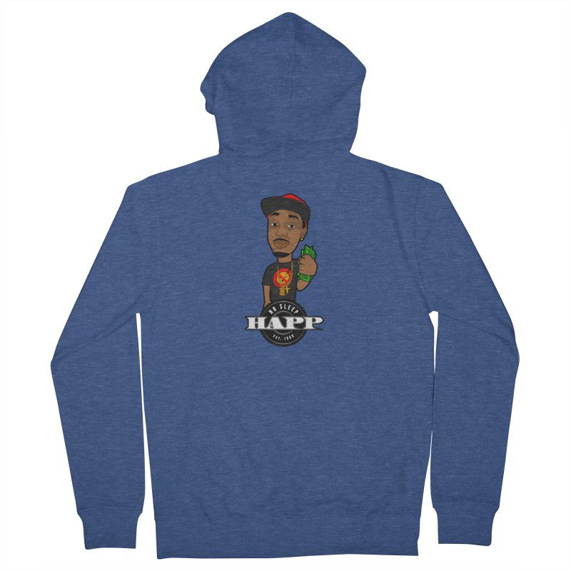 No Sleep Happ Men's Zip-Up Hoody by Chicago Music's Apparel and Retail Shop