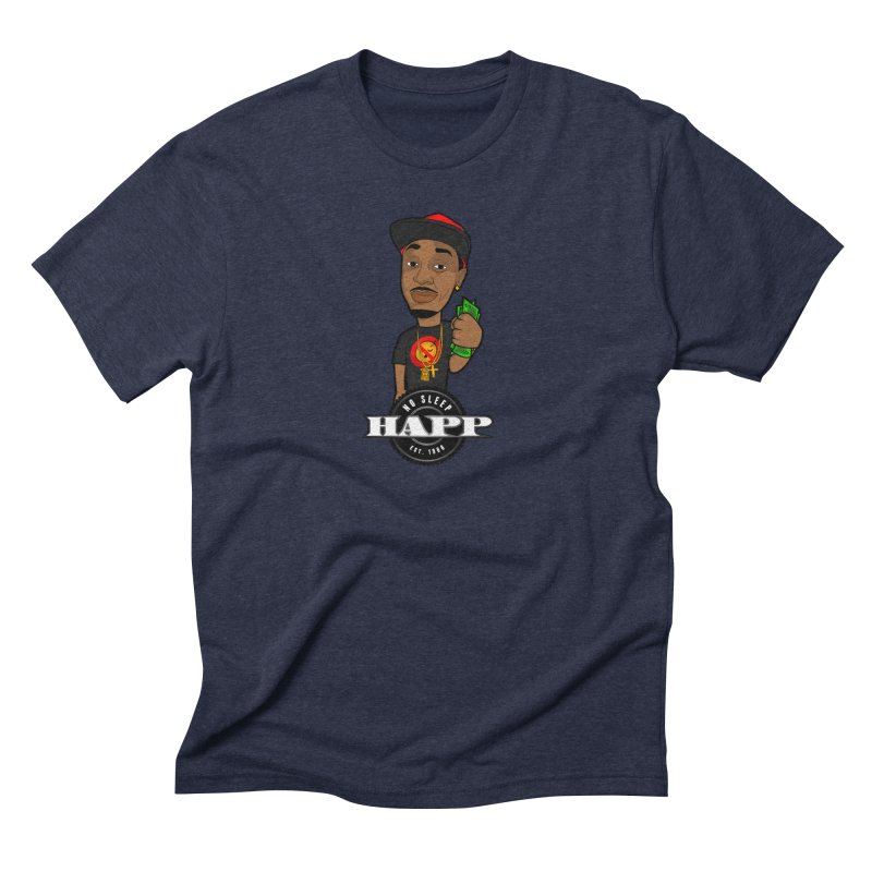 No Sleep Happ Men's Triblend T-Shirt by Chicago Music's Apparel and Retail Shop