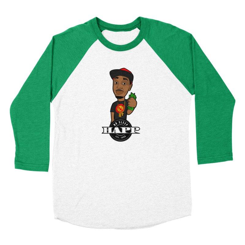 No Sleep Happ Men's Baseball Triblend Longsleeve T-Shirt by Chicago Music's Apparel and Retail Shop