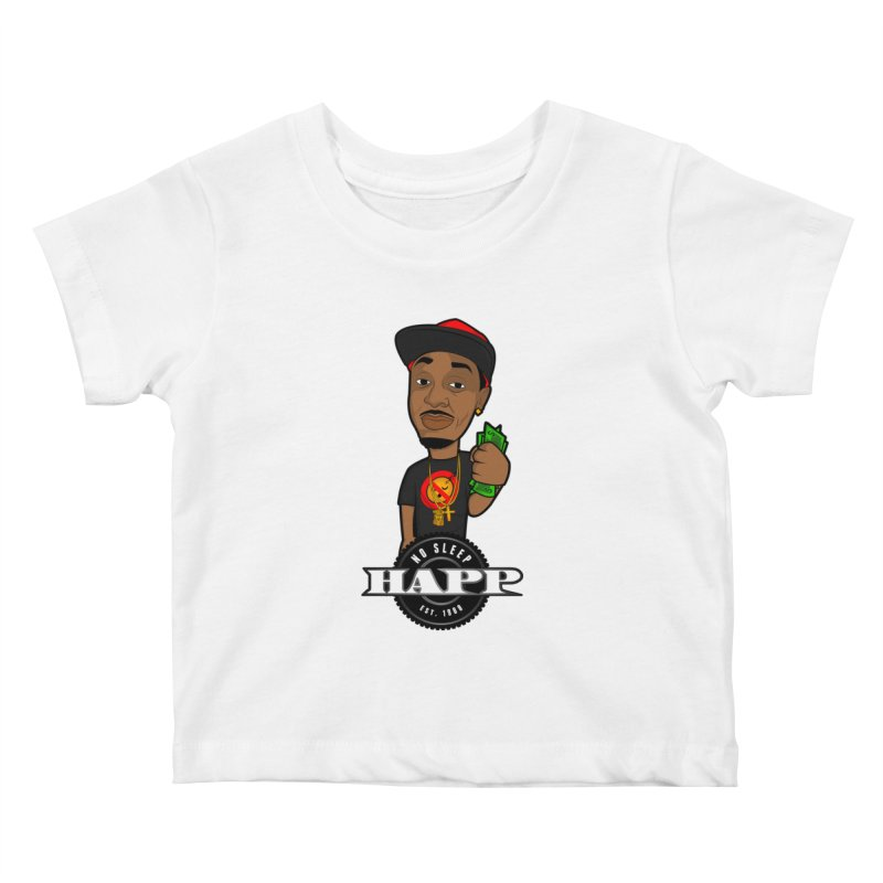 No Sleep Happ Kids Baby T-Shirt by Chicago Music's Apparel and Retail Shop