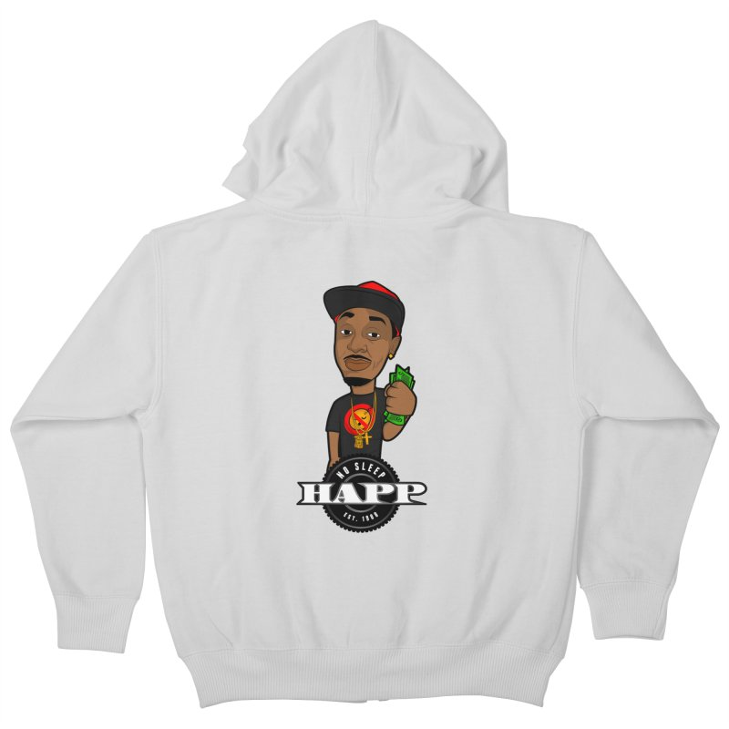 No Sleep Happ Kids Zip-Up Hoody by Chicago Music's Artist Shop