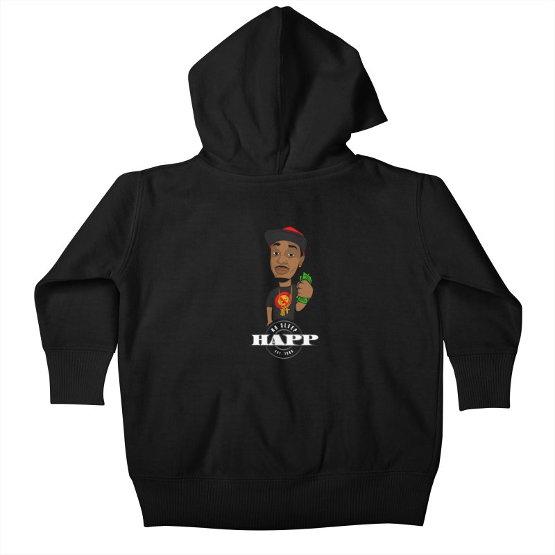 No Sleep Happ Kids Baby Zip-Up Hoody by Chicago Music's Apparel and Retail Shop
