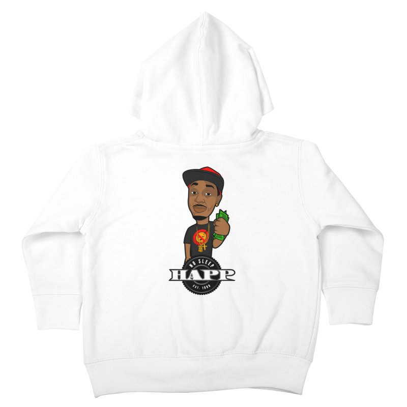 No Sleep Happ Kids Toddler Zip-Up Hoody by Chicago Music's Apparel and Retail Shop