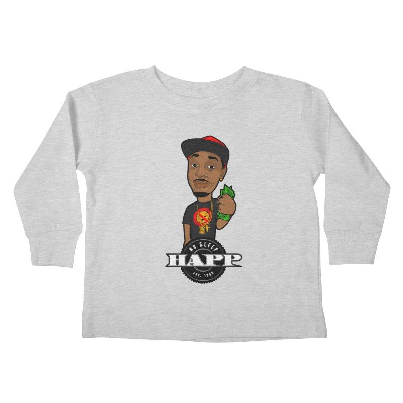 No Sleep Happ Kids Toddler Longsleeve T-Shirt by Chicago Music's Artist Shop