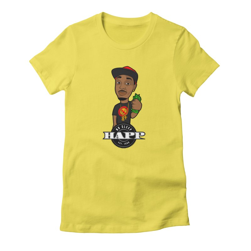 No Sleep Happ Women's Fitted T-Shirt by Chicago Music's Apparel and Retail Shop