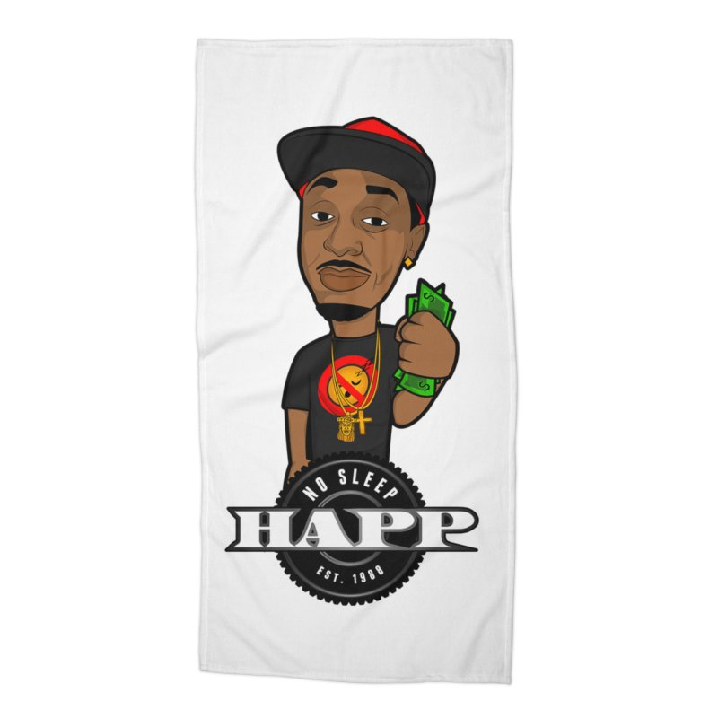 No Sleep Happ Accessories Beach Towel by Chicago Music's Apparel and Retail Shop