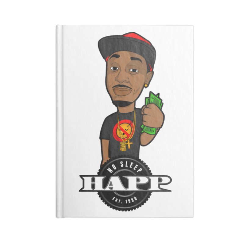 No Sleep Happ Accessories Lined Journal Notebook by Chicago Music's Apparel and Retail Shop