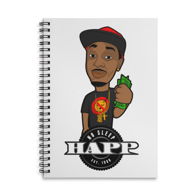 No Sleep Happ Accessories Notebook by Chicago Music's Apparel and Retail Shop
