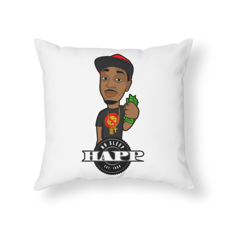 No Sleep Happ Home Throw Pillow by Chicago Music's Apparel and Retail Shop
