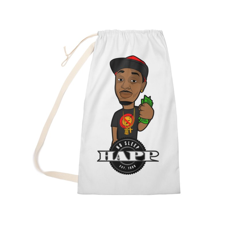 No Sleep Happ Accessories Laundry Bag Bag by Chicago Music's Apparel and Retail Shop