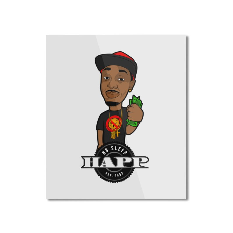 No Sleep Happ Home Mounted Aluminum Print by Chicago Music's Apparel and Retail Shop