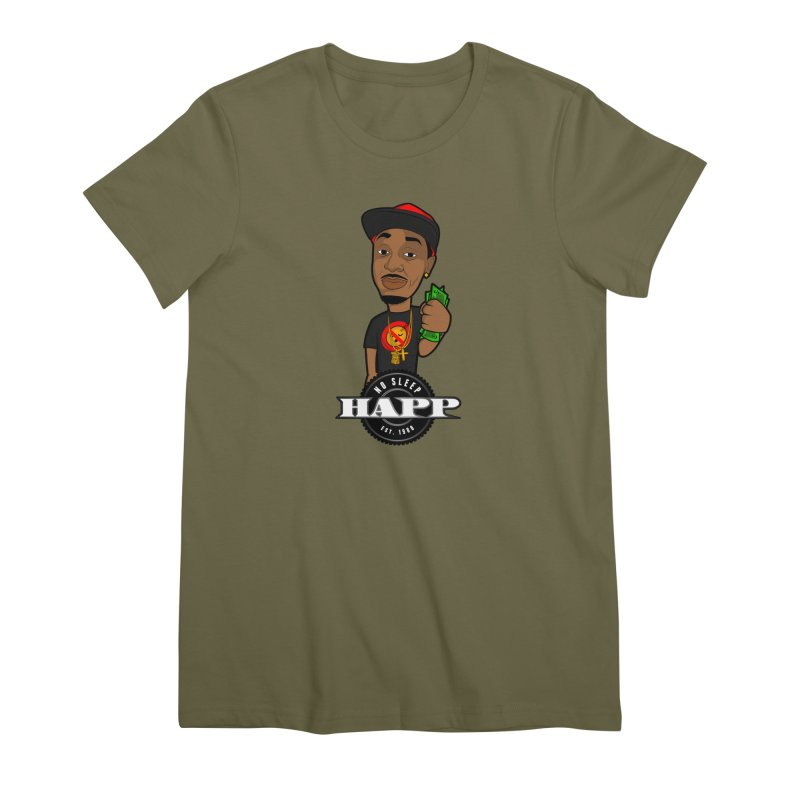 No Sleep Happ Women's Premium T-Shirt by Chicago Music's Apparel and Retail Shop