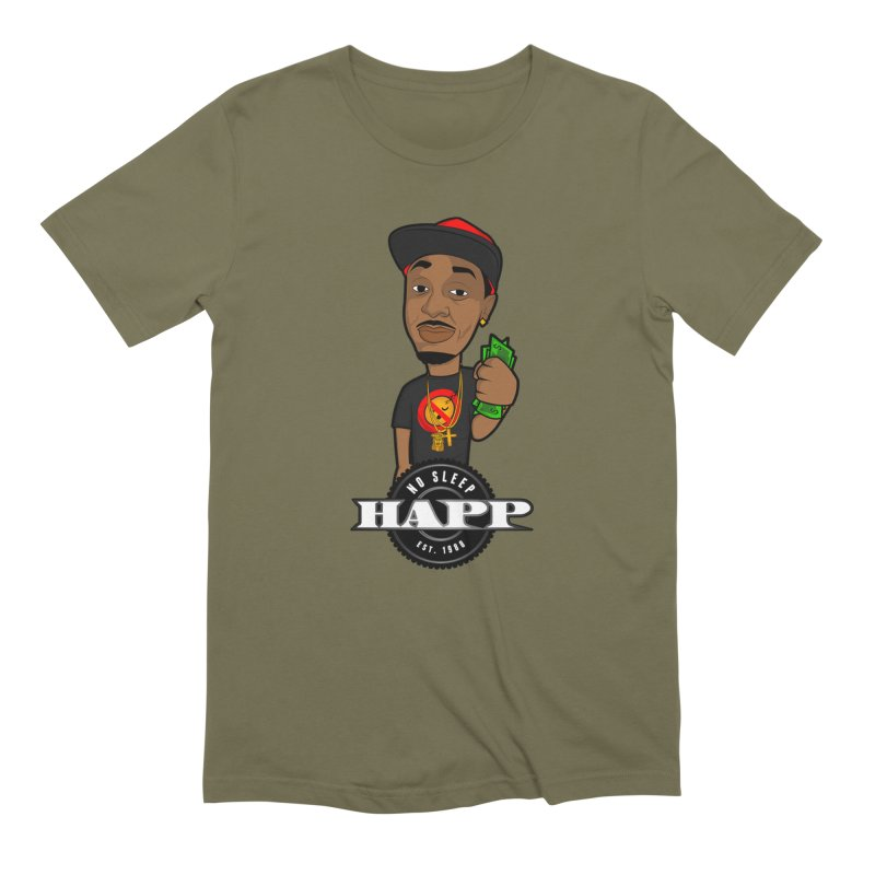 No Sleep Happ Men's Extra Soft T-Shirt by Chicago Music's Apparel and Retail Shop