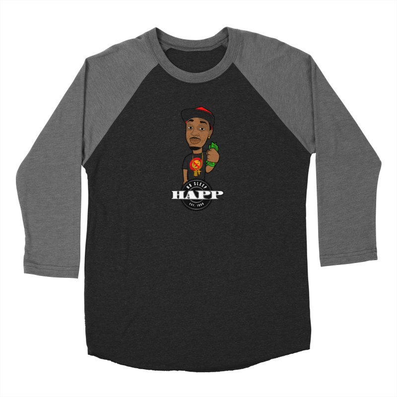 No Sleep Happ Women's Baseball Triblend Longsleeve T-Shirt by Chicago Music's Apparel and Retail Shop