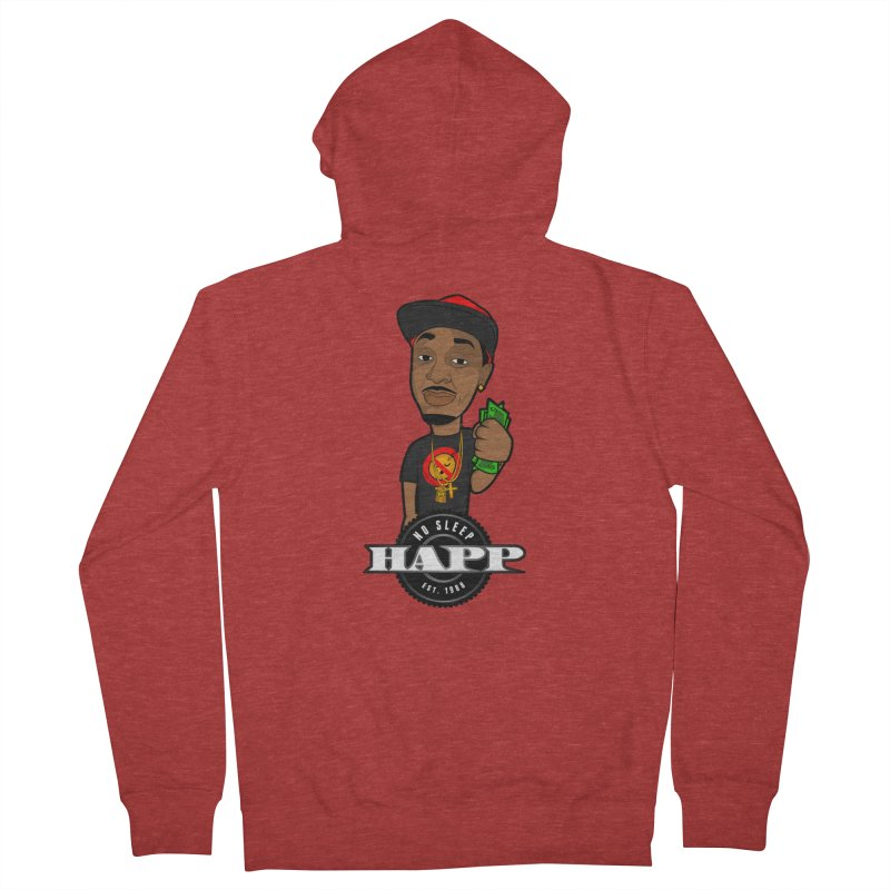 No Sleep Happ Men's French Terry Zip-Up Hoody by Chicago Music's Apparel and Retail Shop