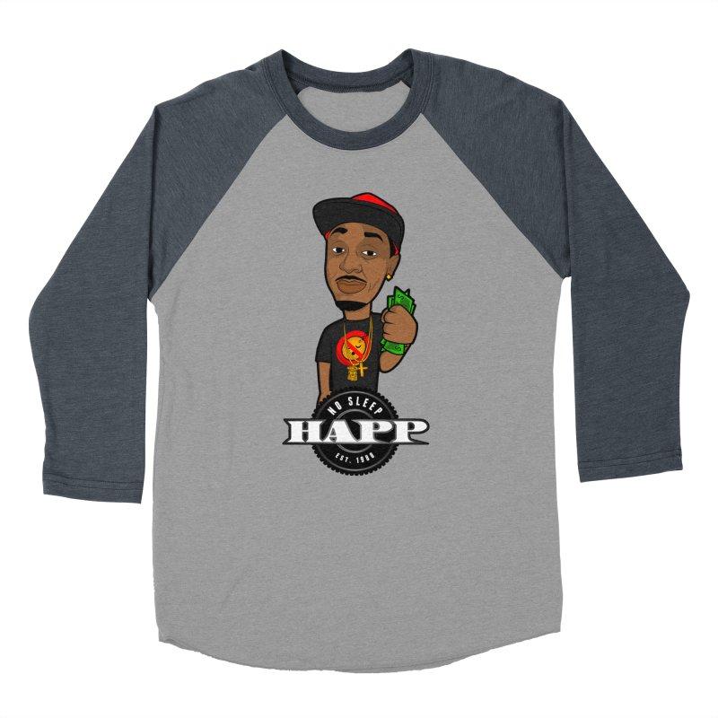 No Sleep Happ Women's Baseball Triblend Longsleeve T-Shirt by Chicago Music's Apparel and Retail Shop