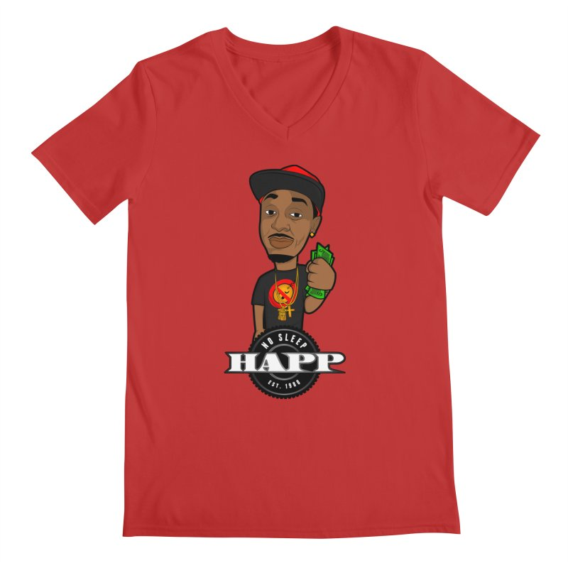 No Sleep Happ Men's Regular V-Neck by Chicago Music's Apparel and Retail Shop