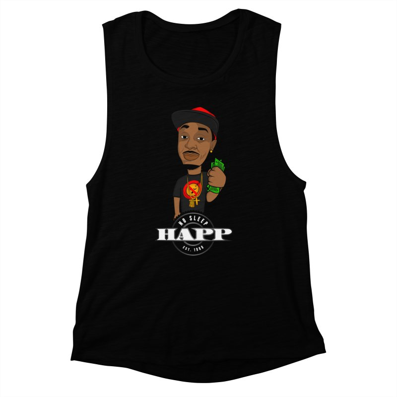 No Sleep Happ Women's Muscle Tank by Chicago Music's Apparel and Retail Shop