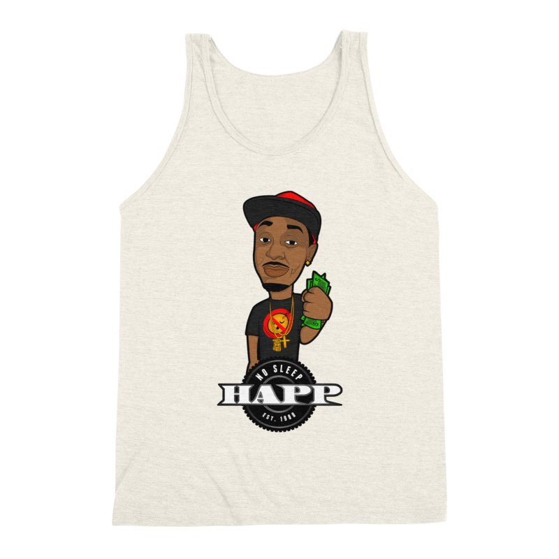 No Sleep Happ Men's Triblend Tank by Chicago Music's Apparel and Retail Shop