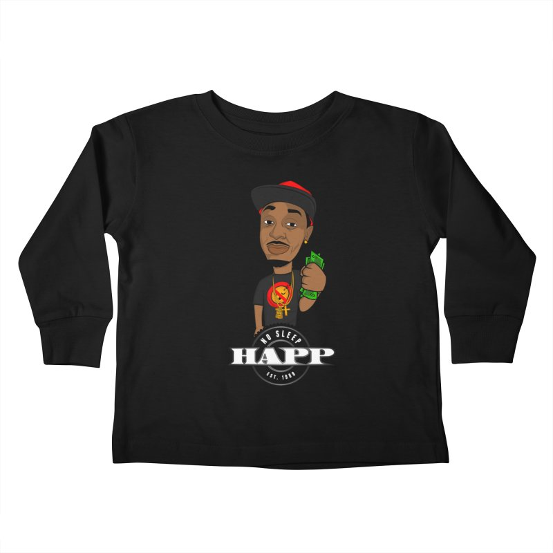 No Sleep Happ Kids Toddler Longsleeve T-Shirt by Chicago Music's Apparel and Retail Shop