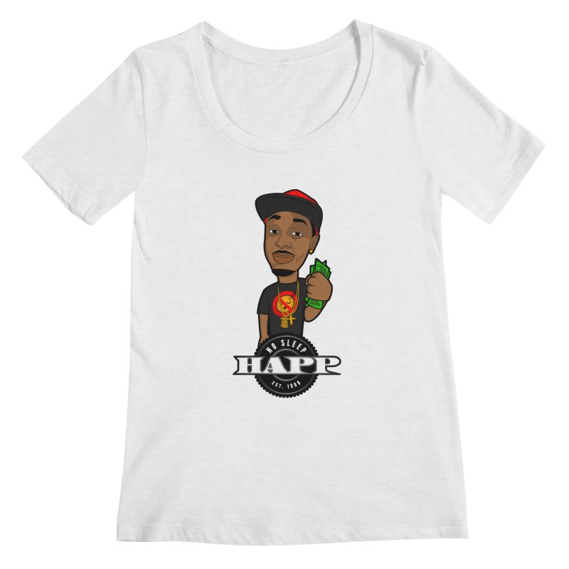 No Sleep Happ Women's Regular Scoop Neck by Chicago Music's Apparel and Retail Shop