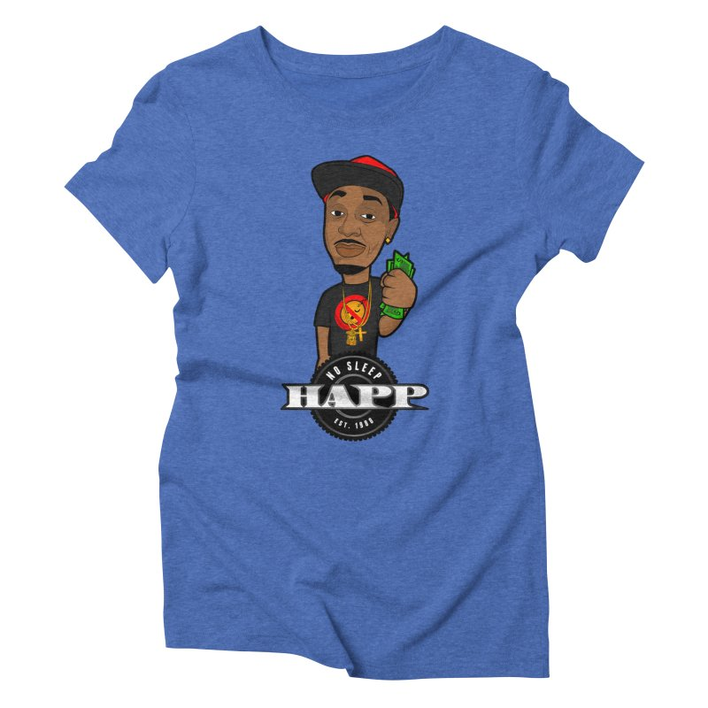 No Sleep Happ Women's Triblend T-Shirt by Chicago Music's Apparel and Retail Shop