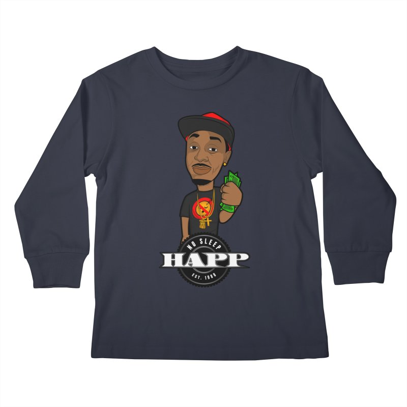 No Sleep Happ Kids Longsleeve T-Shirt by Chicago Music's Apparel and Retail Shop