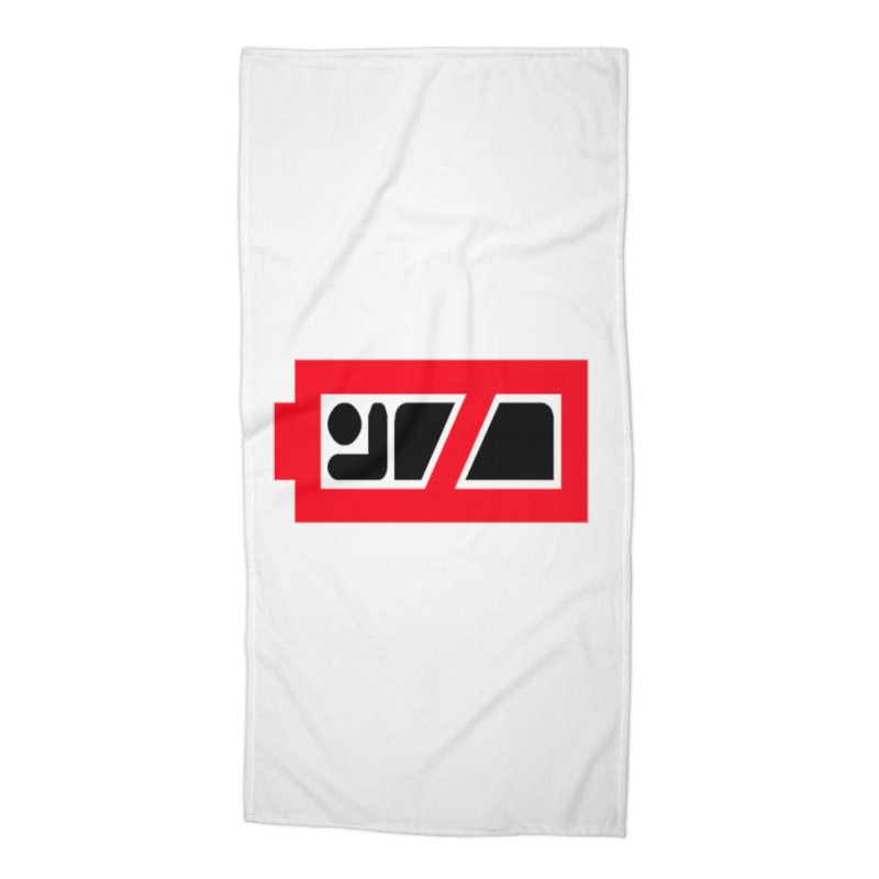 No Sleep Battery Accessories Beach Towel by Chicago Music's Apparel and Retail Shop